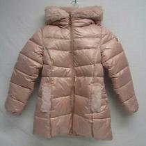 Michael Michael Kors Girl's Us 10/12 Faux Fur Puffer Coat Blush Sample Photo