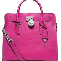 Michael Michael Kors Hamilton Large Ns Tote in Raspberry Pink Leather Photo