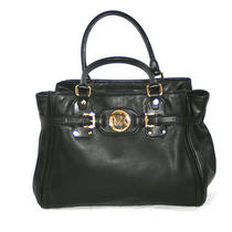 Michael Michael Kors Hudson Large Leather Black Shoulder Bag 448 Photo