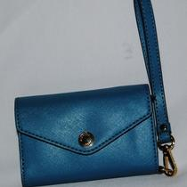 Michael Michael Kors Iphone Wristlet Blue Leather 78 Photo