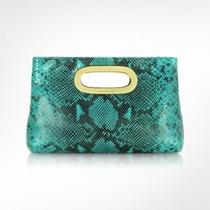 Michael Michael Kors  Leather Clutch Berkley Aqua New 218 Photo