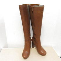 Michael Michael Kors Lesly Luggage Leather Platform Boots 5.5-6 Photo