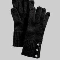 Michael Michael Kors Logo Dome Button Glove Mittens Black 58 - Nwt Photo