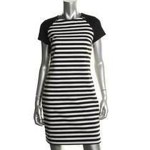 Michael Michael Kors New B/w Ponte Short Sleeves Wear to Work Dress 12 Bhfo Photo