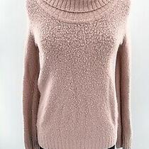Michael Michael Kors Pink Cozy Knit Cowl Neck Sweater Women's Size M Wool Blend Photo