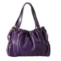 Michael Michael Kors Prescott Leather Satchel Handbag Photo