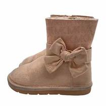 Michael Michael Kors Rose Gold Toddler Boots 7 Logo Bows Blush Pink Photo