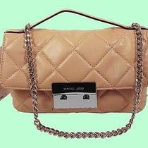 Michael Michael Kors Sloan Flap Blush Quilted Leather Shoulder Bag Msrp258 Photo