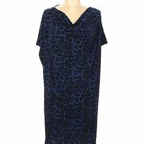 Michael Michael Kors Women Blue Casual Dress M Photo