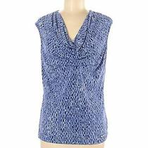 Michael Michael Kors Women Blue Sleeveless Top M Photo