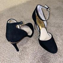 Michael Michael Kors Womens Black Size 8 Pumps Heels Mary Janes Suede Photo
