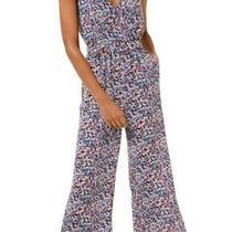 Michael Michael Kors Women's Jumpsuit Blue Size Large L Dainty Bloom 155 187 Photo