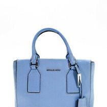 Michael Michael Kors Women's Zip Closure Tote Handbag Leather Blue Size Medium Photo