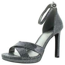 Michael Michael Kors Womens Alexia Silver Heel Sandals  10 Medium (Bm) 2024 Photo