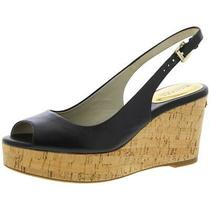 Michael Michael Kors Womens Black Slingback Heels Shoes 9 Medium (Bm)  1779 Photo