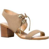 Michael Michael Kors Womens Estella Mid Beige Heel Sandals  9 Medium (Bm) 2761 Photo