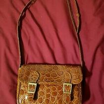 Michael Rome Moc Croc Brown Patent Leather Crossbody Handbag Italy Photo