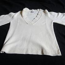 Michael Stars Cashmere Sweater. Off White Photo
