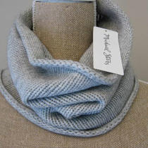 Michael Stars Coziest Cowl  Neck Warmer Heather Gray Photo