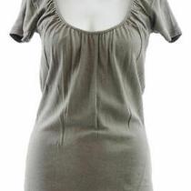 Michael Stars Maternity Camo Green Osfa Shine Shirred Scoop Neck Tshirt New 54 Photo