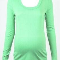 Michael Stars Maternity Honeydew Green Osfa Scoop Neck L/s Shirt Top New 62 Photo