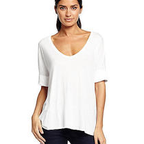 Michael Stars   Rolled Sleeve v-Neck Tee Photo