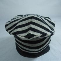 Michael Stars Skinny Stripe Hat Black Multi One Size Nwt Photo