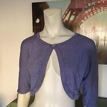 Michael Stars Violet Shimmer Shrug Mother of Pearl Button Closure  Photo