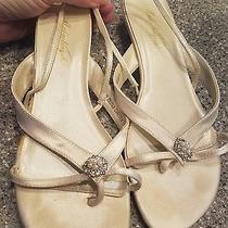 Michaelangelo Size 8 Strappy Bridal Shoes Small Platform Heel