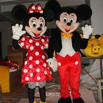 Mickey and Minnie Mouse Mascot Costume Fancy Dress Halloween a Pair Photo