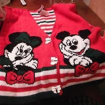 Mickey and Minnie Sweater Vest - Size 6/6x Photo