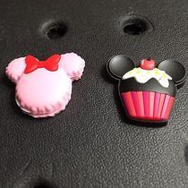 Mickey & Minnie Desserts 2pc Jibbitz Charms for Crocs & Jibbitz Accessories. New Photo