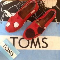 Mickey & Minnie Mouse Custom Women's  Toms 6.5 Disneyland  Photo