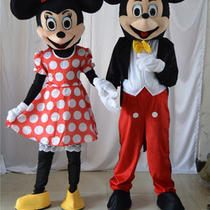 Mickey & Minnie Mouse Mascot Costume Adult Disney Fancy Dress Halloween Hot Sale Photo