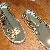 Mickey Mouse Avon Slip-Ons Womens Green/gold 10 Photo