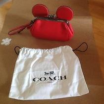 Mickey Mouse Coach Wristlet Red Photo
