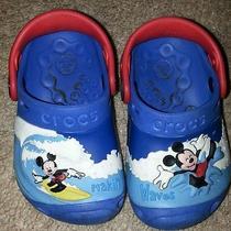Mickey Mouse Crocs Baby Size 4/5euc Photo