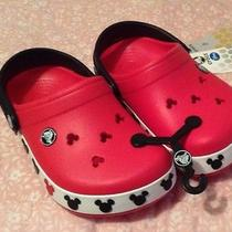 Mickey Mouse Crocs Jr Size 1 Nwt  Photo