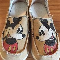 Mickey Mouse Disneyland Crocs Beige Shoes Size 7 Photo
