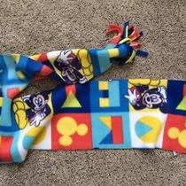 Mickey Mouse Print Fleece Scarf 7 in by 58 in One Size. Photo