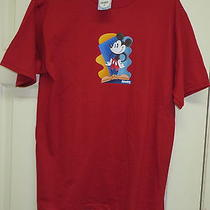 Mickey Mouse W/ Hands on Hips T-Shirt Red M Disney Store Disney Bag Tag Photo