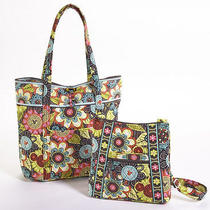 Mickey's Perfect Petals Vera Tote- Disney Collection by Vera Bradley Preorder Photo