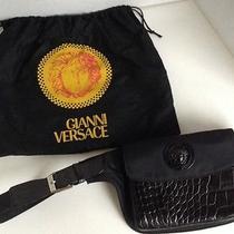 Microfiber Waist Bag in Black by Versace Photo
