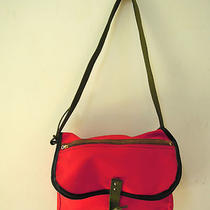Mid Century Vintage Jacquart's Sporty Red Canvas Messengar Tote Bag Unisex Photo