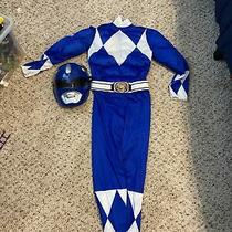 Mighty Morphin Power Rangers Size 4-6 Small Blue Ranger Muscle Costume New Child Photo