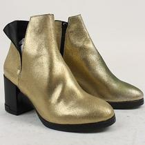 Miista Urban Outfitters Womens Lena Chelsea Ankle Boots Gold 6 New in Box Photo