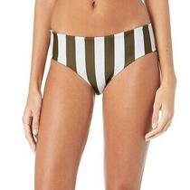 Mikoh Women's Swimwear Green White Size Xs Striped Bikini Bottom 42 936 Photo