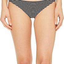 Mikoh Women's Swimwear White Black Size Large L Striped Bikini Bottom 65 958 Photo