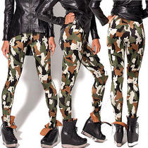 Military Camouflage Women Tights Clothing Pencil Pants Clothes Commando Leggings Photo