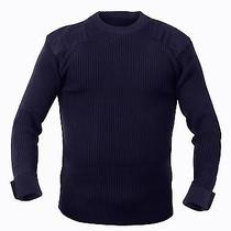 Military Style Acrylic Tactical Commando Crewneck Sweater Navy Photo